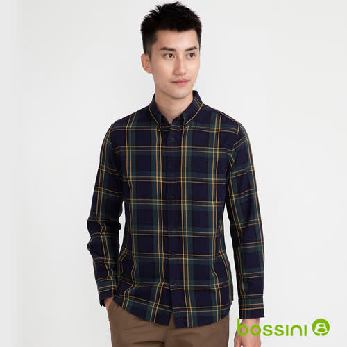 bossini男裝-牛津襯衫04藏藍色