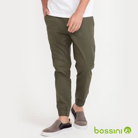 bossini 輕鬆束口褲-綠