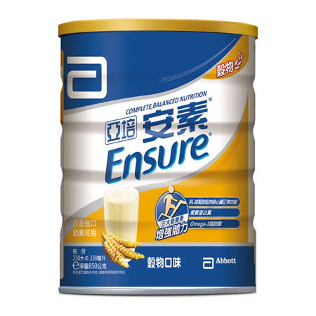 亞培安素優能基 均衡營養配方穀物4入