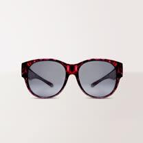 【ASLLY】潮流暗紫豹紋UV400外掛式偏光太陽眼鏡(全罩式/墨鏡/太陽眼鏡)