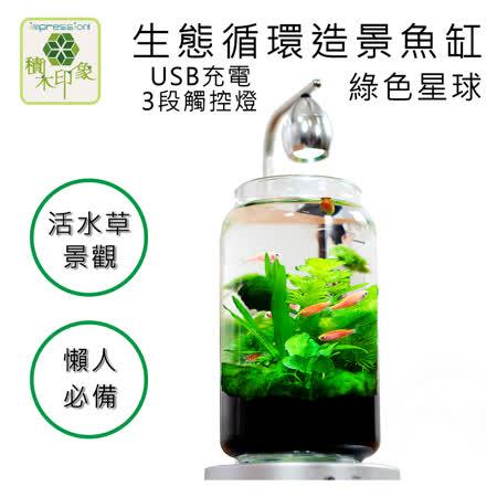 積木印象 活水草生態 紓壓懶人魚缸