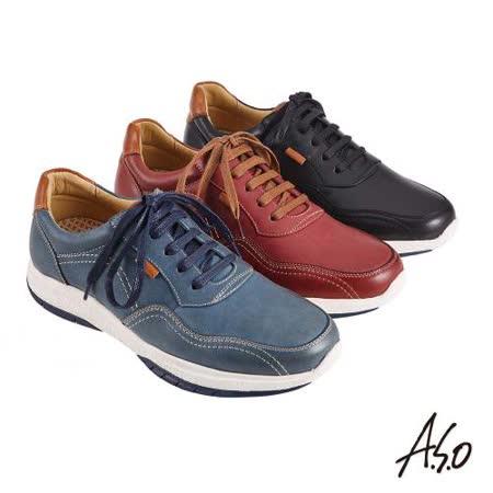 A.S.O機能休閒  萬步健康綁帶休閒鞋