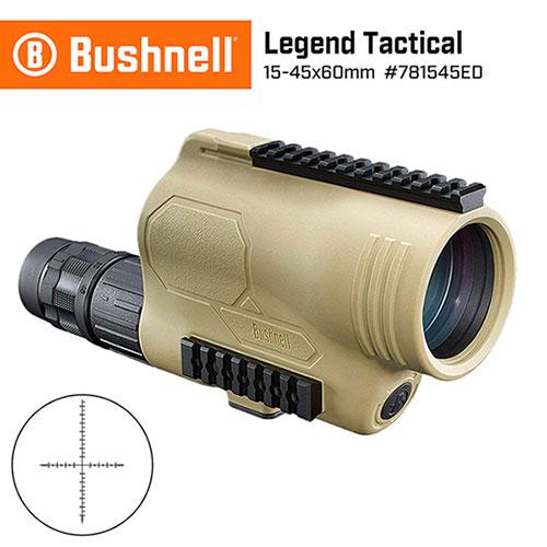 【美國 Bushnell 倍視能】Legend Tactical 傳奇系列 15-45x60mm T Series ED螢石戰術觀靶型單筒望遠鏡 781545ED (公司貨)