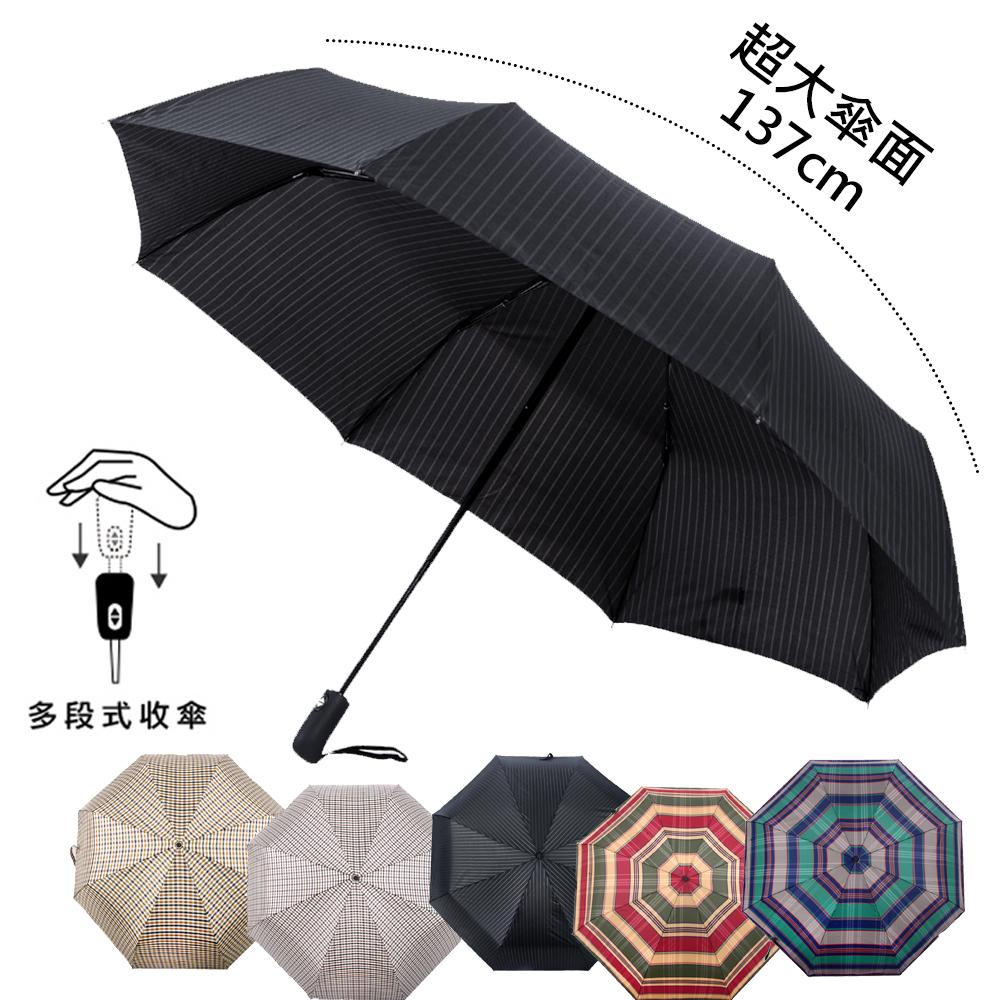 (美安獨家) 2mm 超大!風潮條紋 超大傘面安全自動開收傘 _多色任選