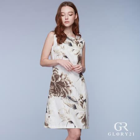 GLORY21 水墨畫印花A-line洋裝