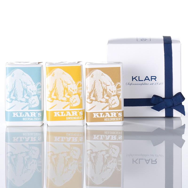 德國KLAR 大地&海鹽&人蔘豆腐 皂禮盒 (K351241)