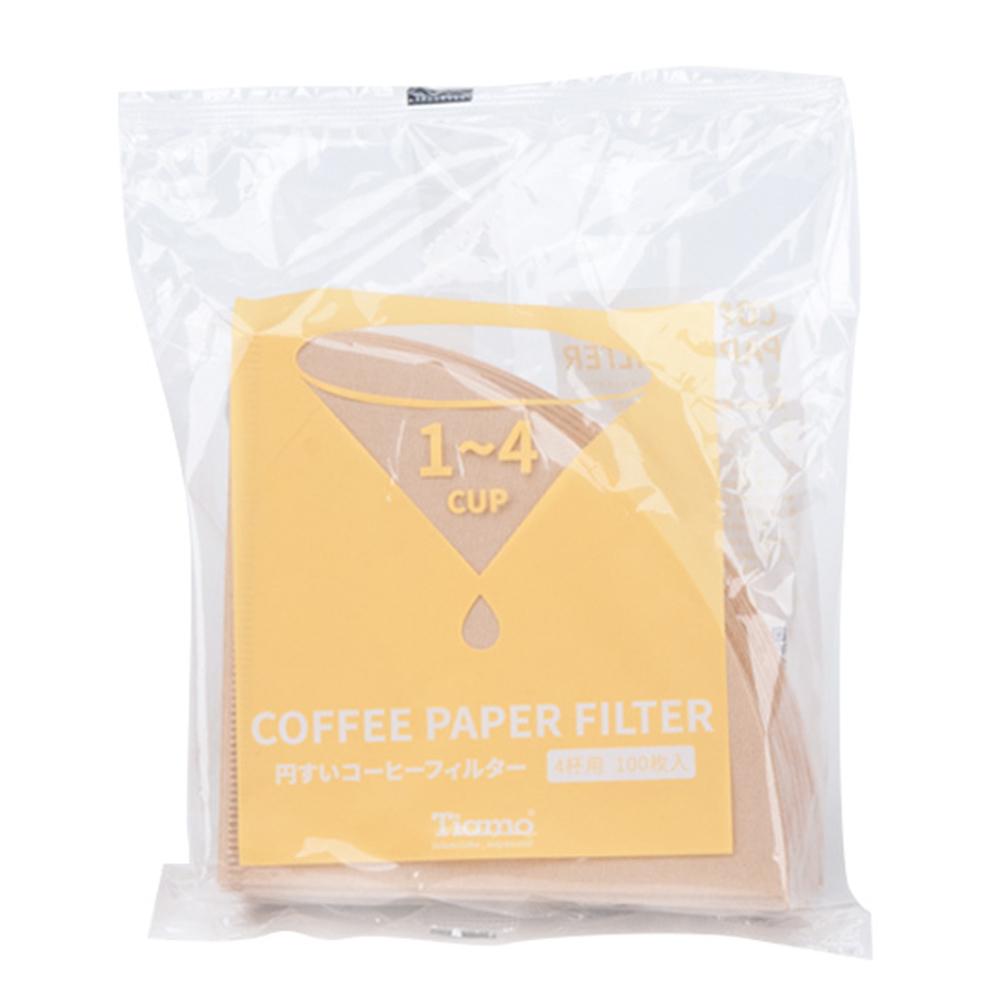 Tiamo V02 無漂白圓錐咖啡濾紙 1-4人 100入日本製*3包(HG5597)