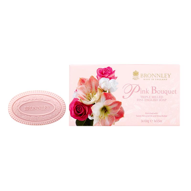 英國Bronnley 花神舞姬玫瑰雕花皂禮盒 (B178237)