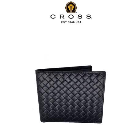 [CROSS]  編織紋8卡男用皮夾阿梅爾系列