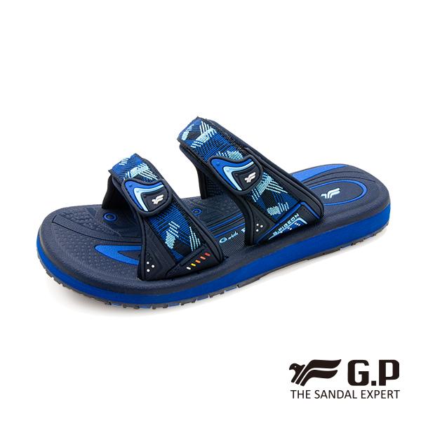 【G.P 女款簡約織帶風格雙帶拖鞋】G0573W 藍色(SIZE:36-39 共三色)