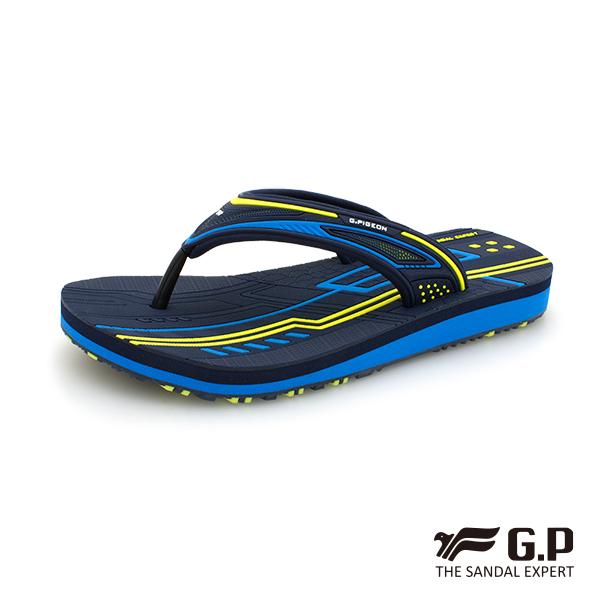 【G.P 女款親子系列舒適夾腳拖鞋】G9076BW 藍色(SIZE:33-39 共三色)