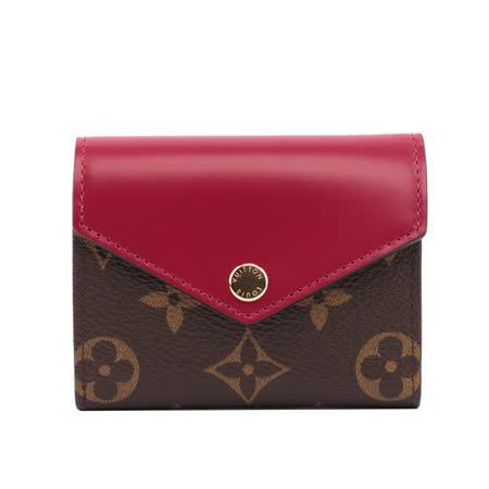 LV Monogram  零錢袋短夾(紫紅色)