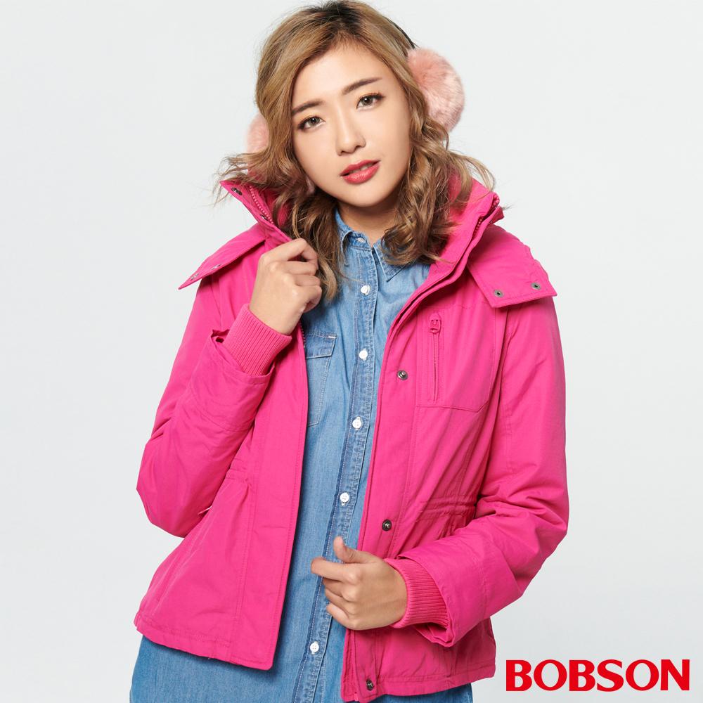 BOBSON 女款防風FLEECE配色外套(37102-15 )