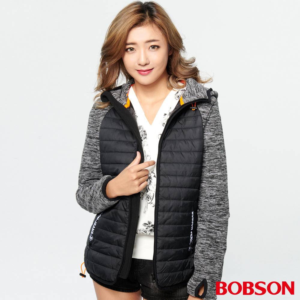 BOBSON 女款花紗針織連帽外套(37103-88 )