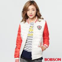 BOBSON 女款棒球絲棉外套 (37106-21)