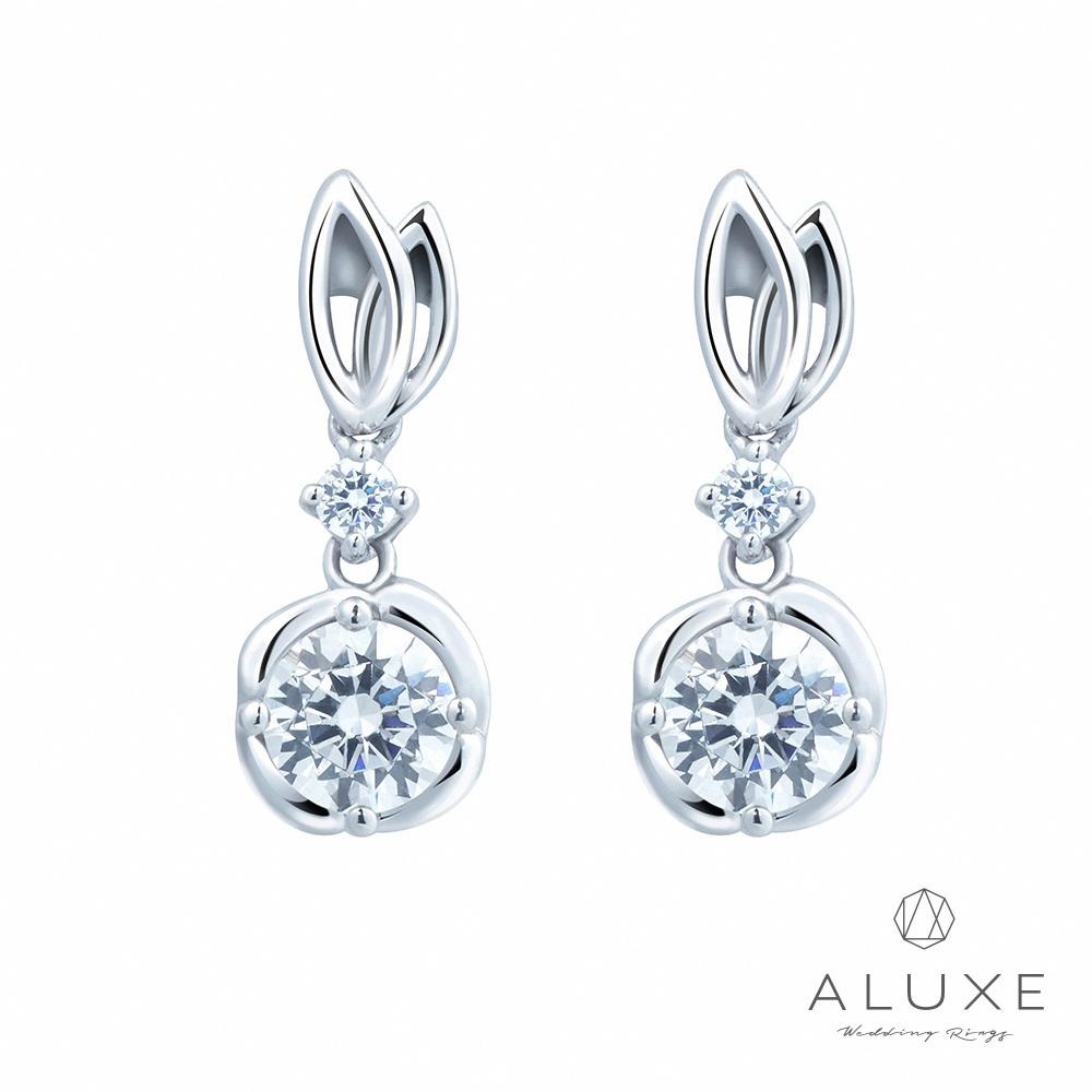 A-LUXE 亞立詩 18K金 主鑽0.60克拉Flora鑽石耳環