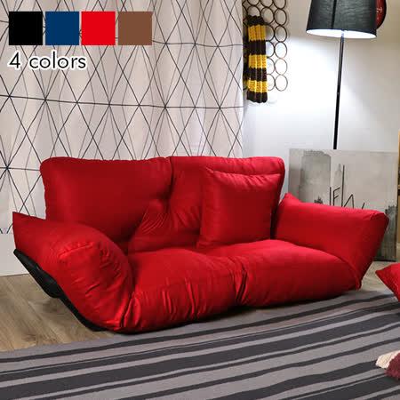 WM 防潑水日式 扶手雙人沙發床椅