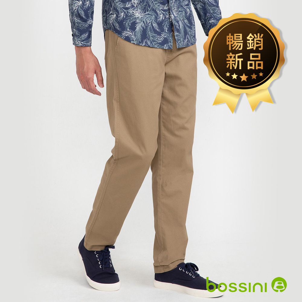 bossini男裝-輕鬆長褲01卡其