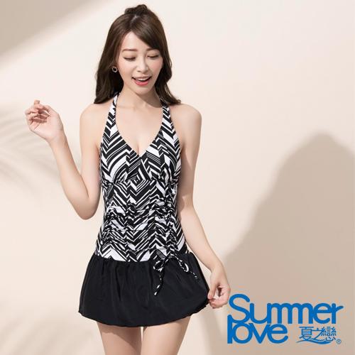 【夏之戀SUMMERLOVE】 大女幾何連身帶裙 E18799