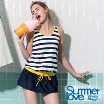 【夏之戀SUMMERLOVE】大女連身裙二件式泳衣S19726