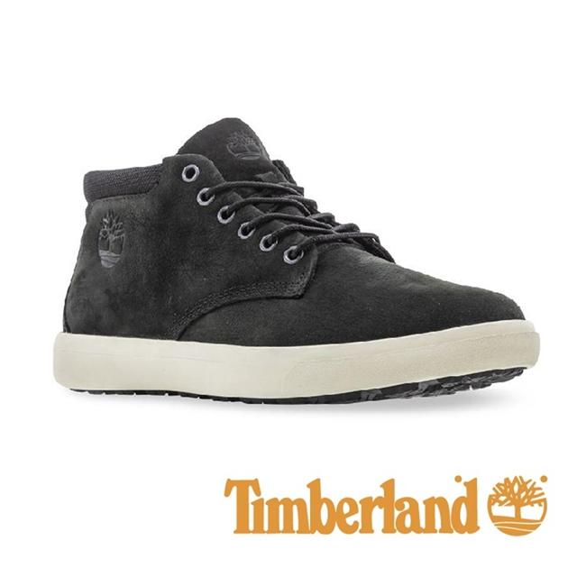 Timberland 皮革中筒休閒鞋 男鞋 - 黑
