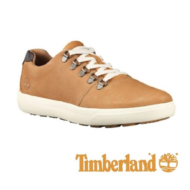 Timberland 皮革透氣舒適休閒鞋 男鞋 -小麥黃