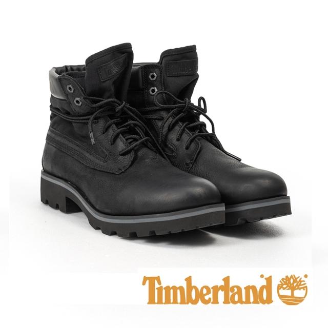 Timberland 異材質拼接六吋靴 男鞋 - 黑