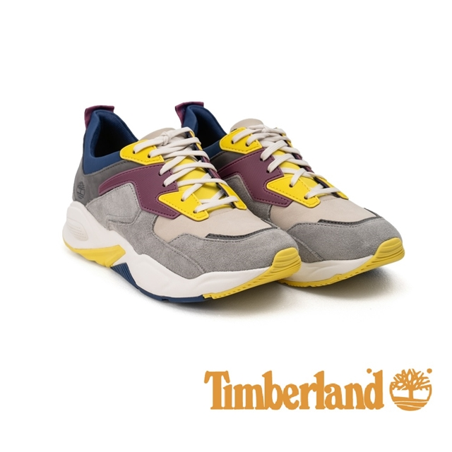 Timberland 撞色拼接厚底運動鞋 女鞋 - 黃