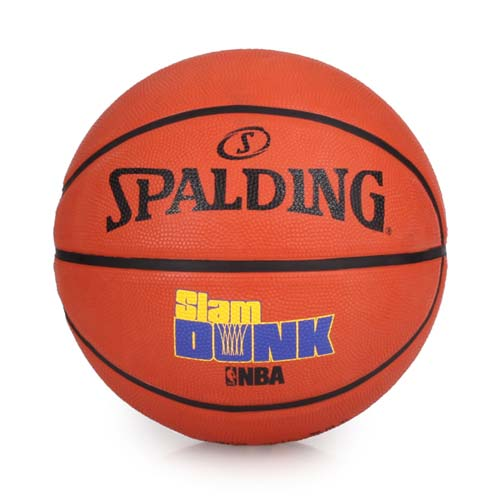 SPALDING GAME TIME系列-SLAM DUNK 籃球-附球針 7號球 橘藍黃 F