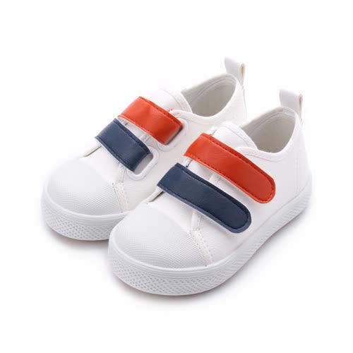 GIOVANNI VALENTINO 雙魔鬼氈休閒鞋 白 GV-5119 中小童鞋 鞋全家福