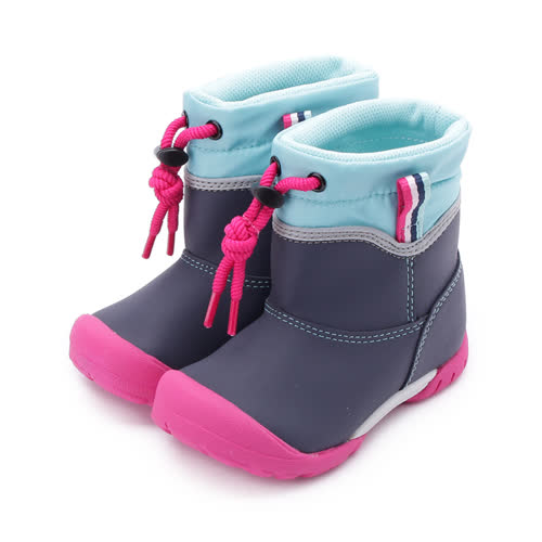 MOONSTAR 防水束帶速乾雨鞋 深藍 MSC22105 中童鞋 鞋全家福