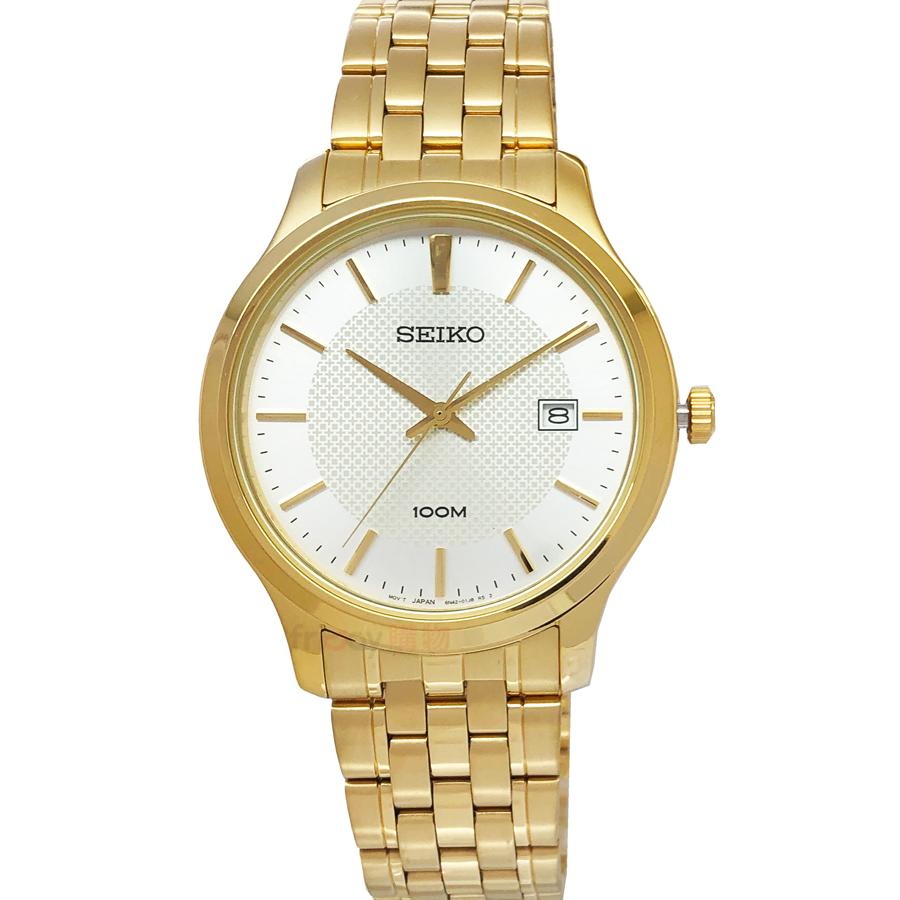 SEIKO手錶 SUR296P1 精工 經典時尚 IP金鋼帶 男錶