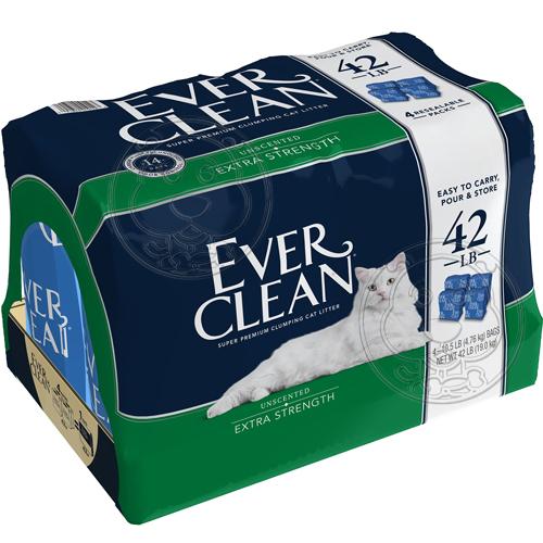 美國EVERCLEAN 》低過敏結塊貓砂(藍標)-42lb