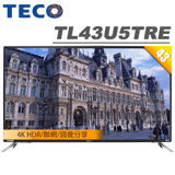 TECO東元 43吋 4K HDR連網液晶顯示器+視訊盒(TL43U5TRE)
