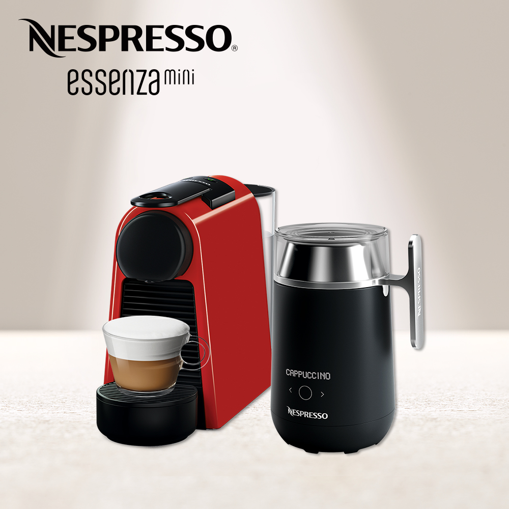Nespresso Essenza Mini 寶石紅 Barista咖啡大師調理機 組合