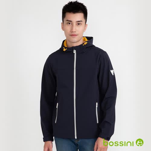 bossini男裝-機能複合外套01深藍