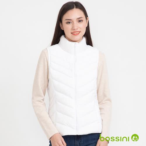 bossini女裝-炫彩極輕羽絨背心01白