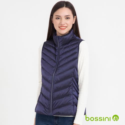 bossini女裝-炫彩極輕羽絨背心02海軍藍