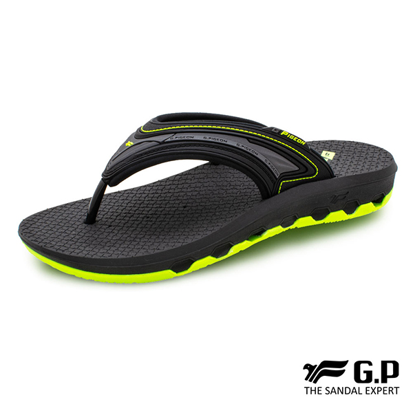 【G.P 男款透氣舒適人字拖鞋】G0537 綠色 (SIZE:37-44 共三色)