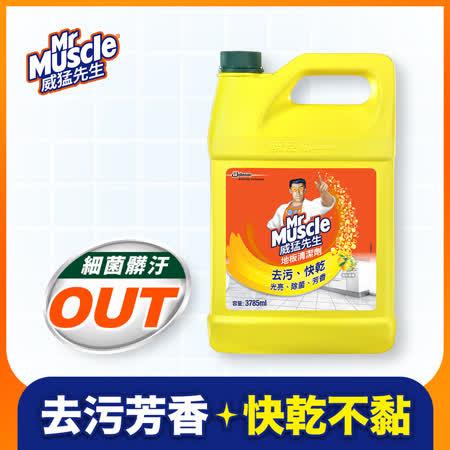 威猛先生地板清潔劑 清新檸檬加侖桶