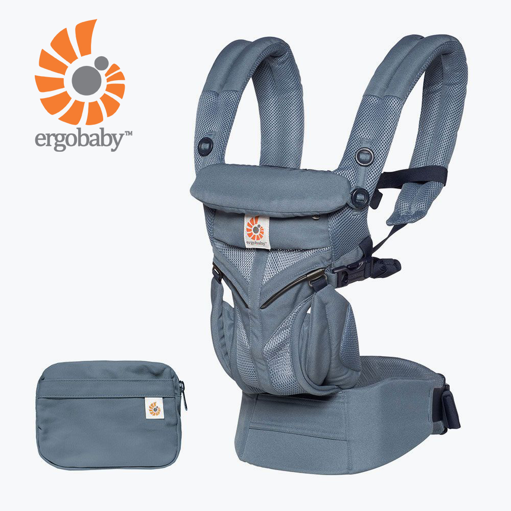 Ergobaby Omni全階段型四式360透氣款嬰兒揹巾/揹帶-牛津藍