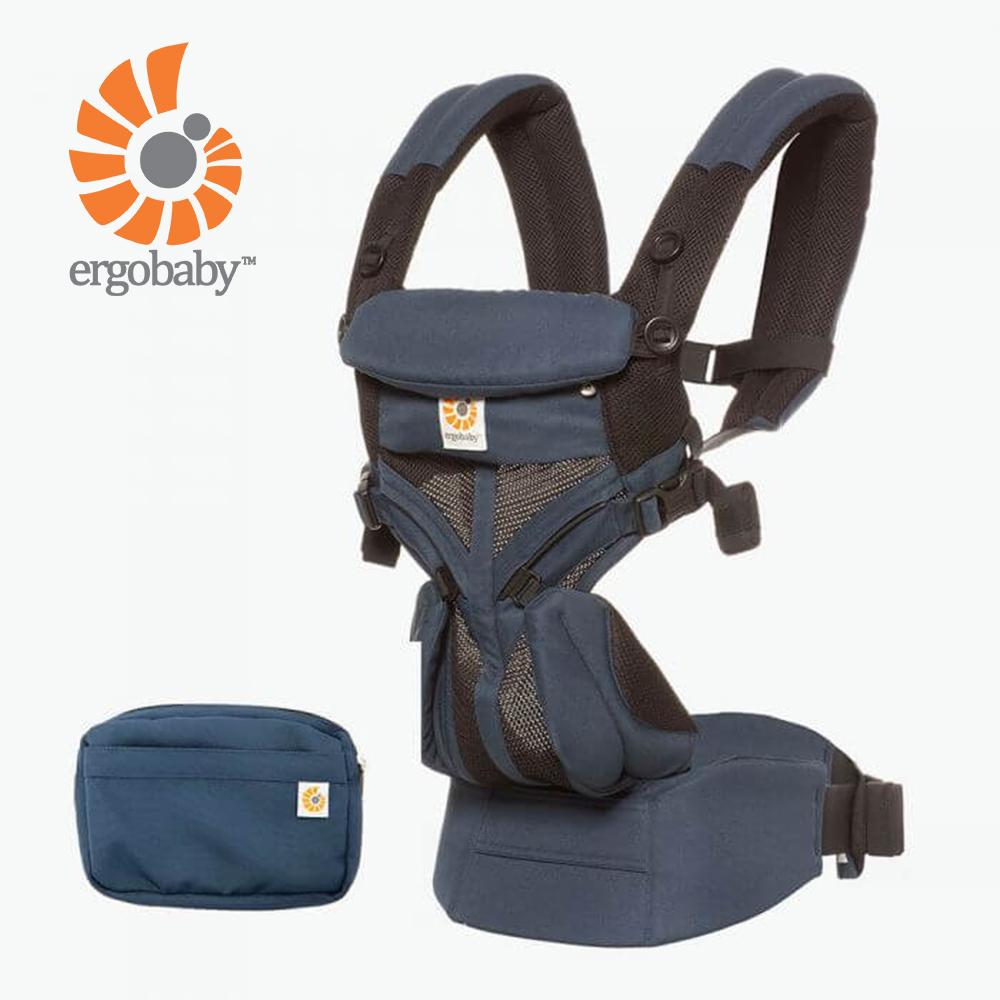 Ergobaby Omni全階段型四式360透氣款嬰兒揹巾/揹帶-藍黑
