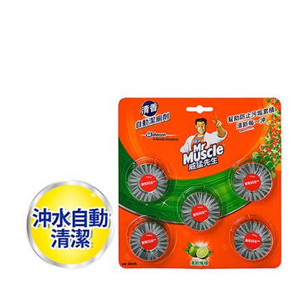 威猛先生投入式 自動潔廁劑×5