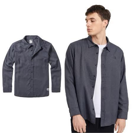 The North Face 時尚舒適 保暖長袖襯衫46GE 瀝灰 N