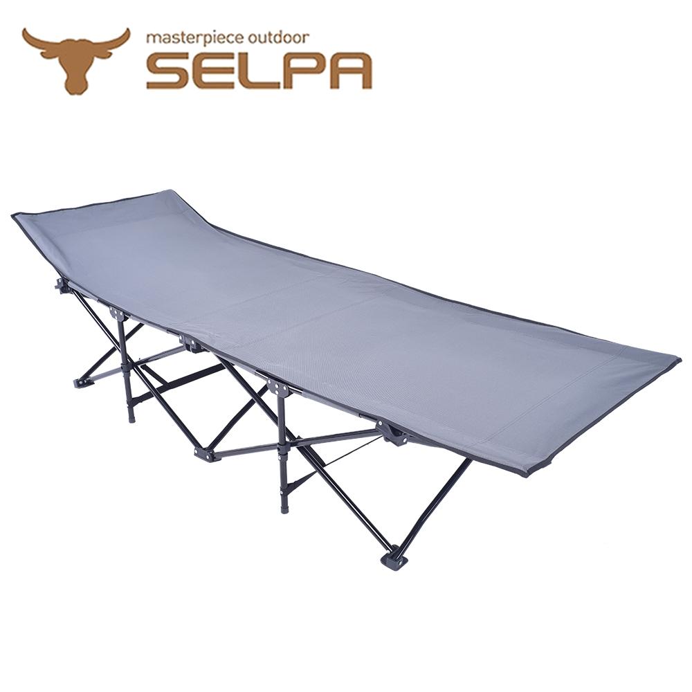 【韓國SELPA】加大款高承重速開行軍床/露營床(兩色任選)