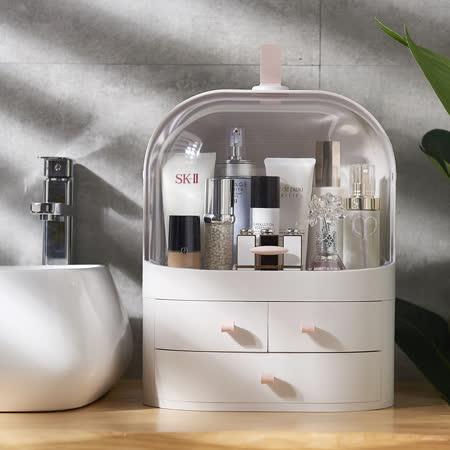 大容量高質感 防水防塵妝品收納盒