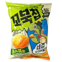 【好麗友】烏龜玉米脆片4包組(136g*4包)
