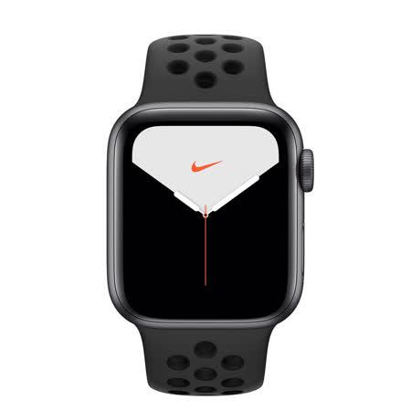 Apple Watch S5 Nike GPS版 44mm太空灰鋁錶殼黑Nike運動錶帶(MX3W2TA/A)