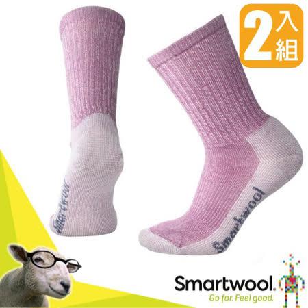 SmartWool美麗諾羊毛 健行輕量減震中長襪(2入)