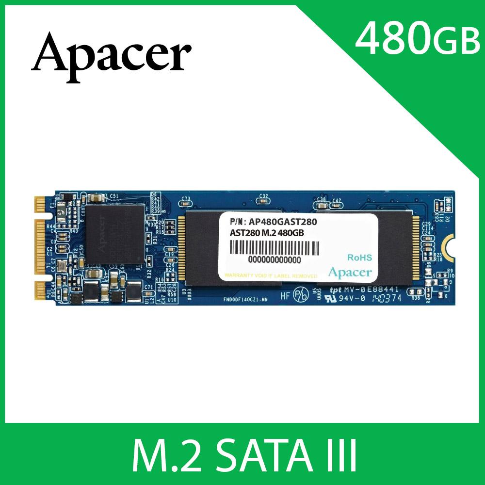 Apacer宇瞻 AST280 M.2 SATA3 480GB SSD固態硬碟